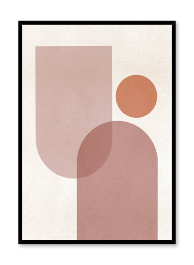 Modern abstract illustration poster by Opposite Wall with various shapes overlapping by Toffie Affichiste
