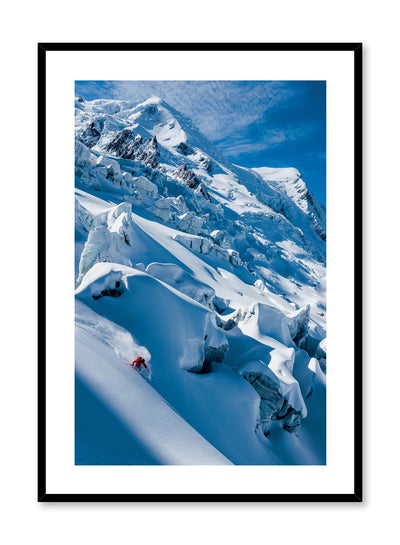 Landscape photography poster by Opposite Wall with snowy mountain peaks