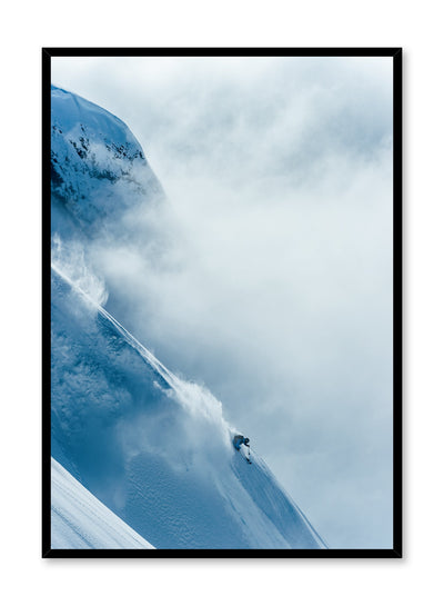 Landscape photography poster by Opposite Wall with snowy mountain and and extreme skier