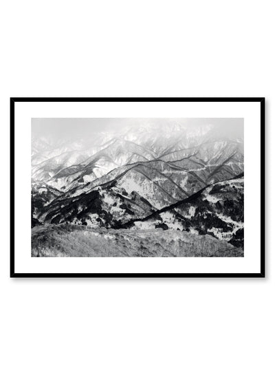 Landscape photography poster by Opposite Wall with dusting of snow on mountain