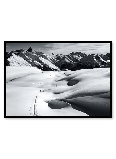 Landscape photography poster by Opposite Wall with white snow on mountain range