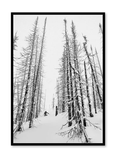 Landscape photography poster by Opposite Wall with trees in snow