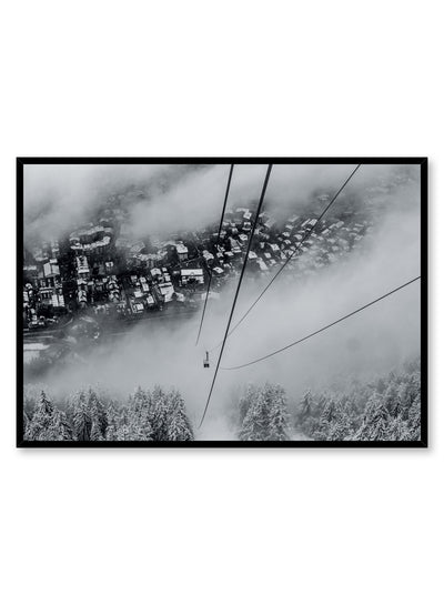 Landscape photography poster by Opposite Wall with ski lift gondola
