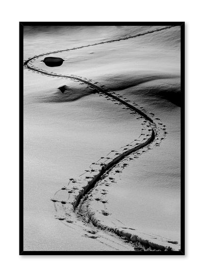 Landscape photography poster by Opposite Wall with footprint trail in the snow