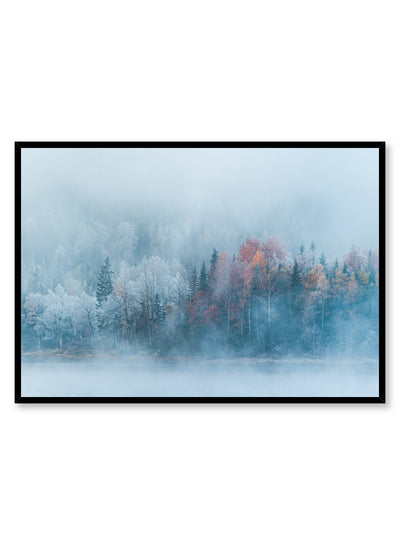 Landscape photography poster by Opposite Wall with trees in the mist