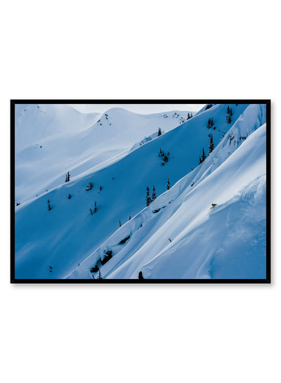 Landscape photography poster by Opposite Wall with white snow on mountain