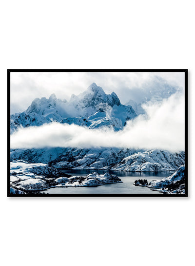 Landscape photography poster by Opposite Wall with mountain peaks