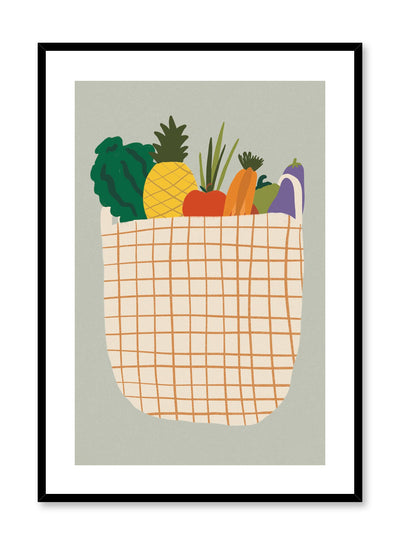 The Groceries is a fruit and veggie illustration poster by Opposite Wall.