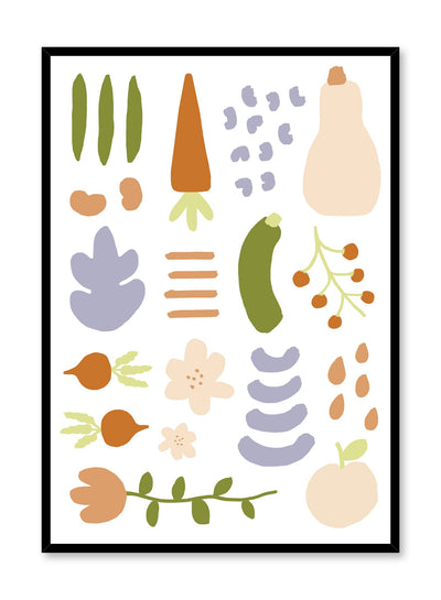 Deconstructed Garden is a fruit and veggie illustration poster by Opposite Wall.