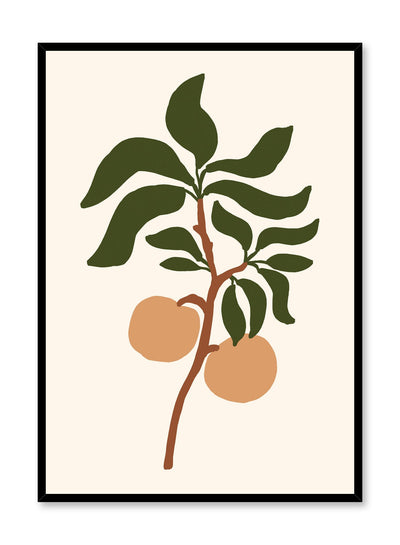 Orange Tree Branch is an orange fruit illustration poster by Opposite Wall.