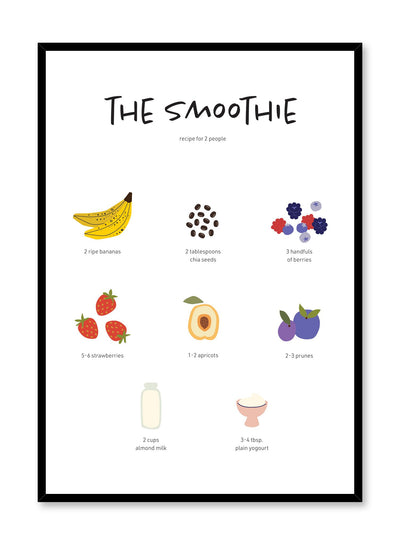 Smoothie Recipe is an illustrated recipe poster by Opposite Wall.