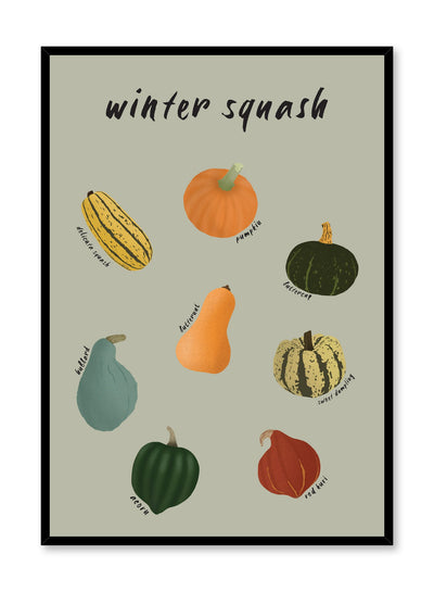Squash Family is an illustrated winter squash guide poster by Opposite Wall.
