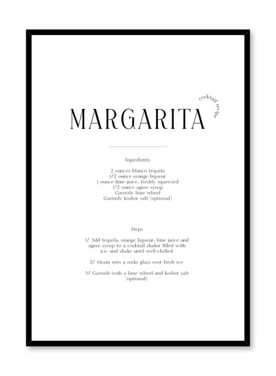 Margarita is a cocktail recipe typography poster by Opposite Wall.