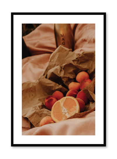 Picnic at Sunset is a citrus picnic photography poster by Opposite Wall.