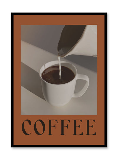 Milk & Coffee is a coffee photography collage poster by Opposite Wall.