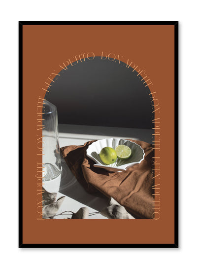 Cosmopolitan Feast is a still life fruit photography collage poster by Opposite Wall.