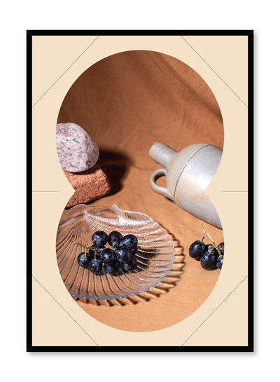 Wine Prequel is a still life photography poster with fruit by Opposite Wall.