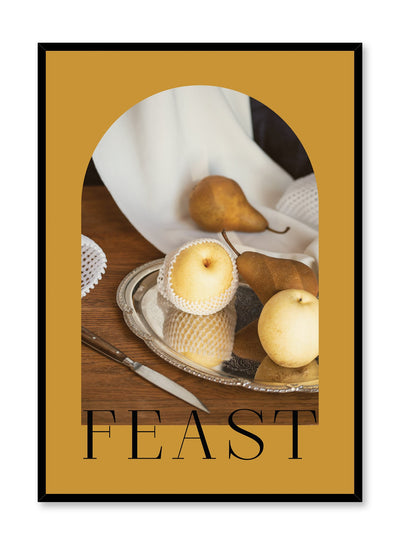 Feast is a still life photography poster with pears by Opposite Wall.