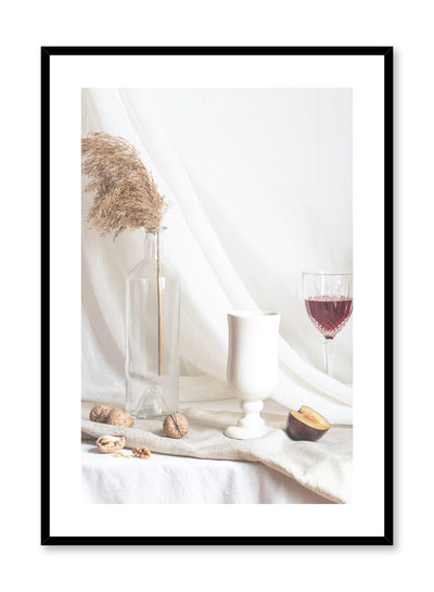 Sensual Buffet is a still life photography poster with fruit and wine by Opposite Wall.