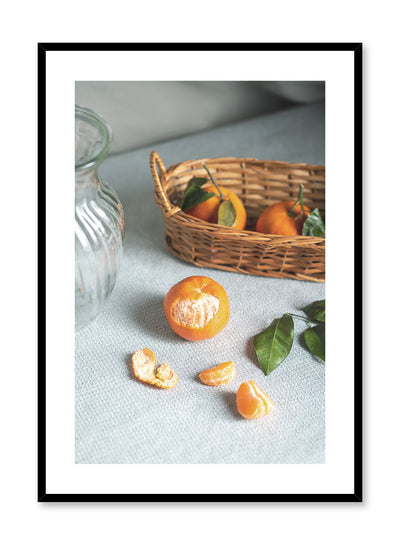 Cutie Clementine is a still life photography poster with fruit by Opposite Wall.
