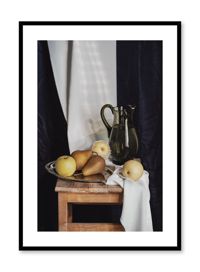 (Pear)fection is a still life photography poster with pears by Opposite Wall.