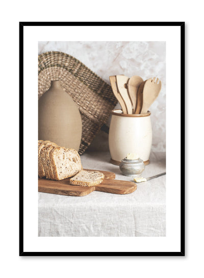 Slice of Life is a bread and butter still life photography poster by Opposite Wall.