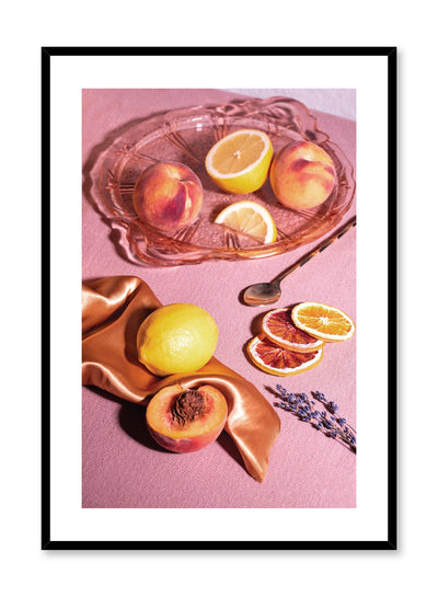 Sunny Flavours is a colourful fruit photography poster by Opposite Wall.