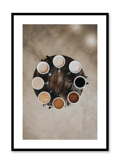 Caffeine Wheel is a coffee photography poster by Opposite Wall.