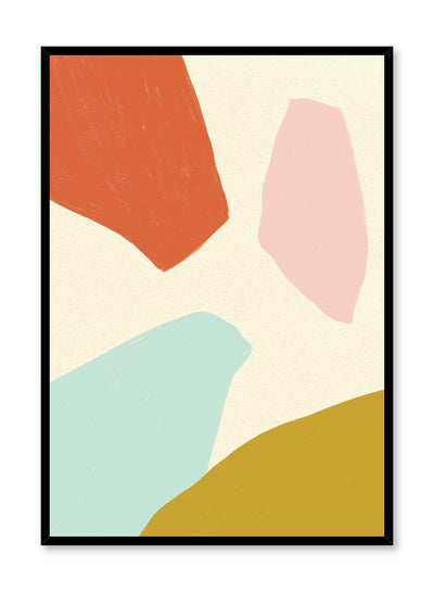 Shapin' Up is a minimalist illustration poster of colourful abstract shapes by Opposite Wall.