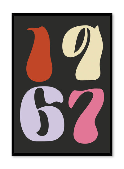 Fluorescent '67 is a colourful typography poster of the year 1967 by Opposite Wall.