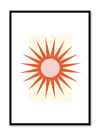 Minimalist Sun is a minimalist illustration poster of a blazing sun by Opposite Wall.