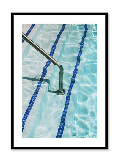 Marco Polo is a minimalist photography poster of a pool's stairs and handrail by Opposite Wall.