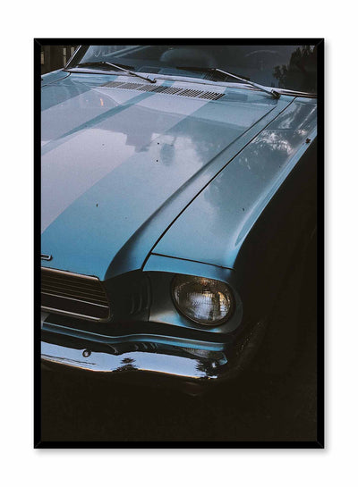 Classic Ride is a vintage photography poster of a 60's muscle car by Opposite Wall.
