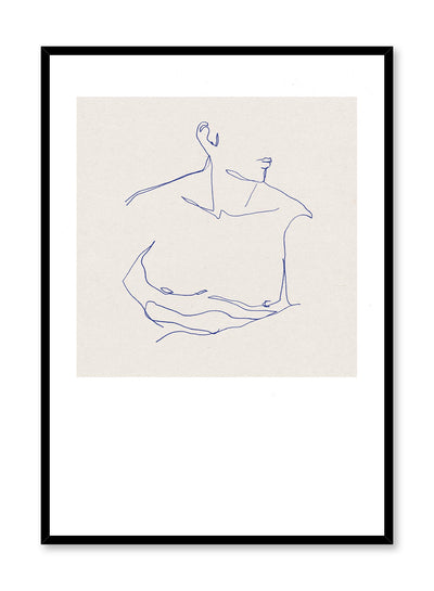 Him is a line art illustration of a man's chiseled chest by Opposite Wall.