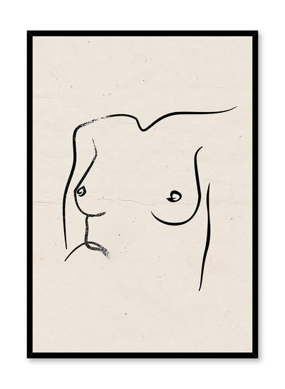 Birthday Suit is a line art illustration of a glamorous woman's chest by Opposite Wall.