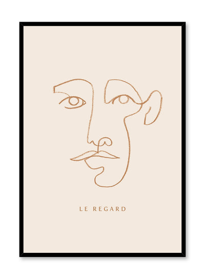Staring Contest is a line art illustration of a person staring straight at the observer by Opposite Wall.