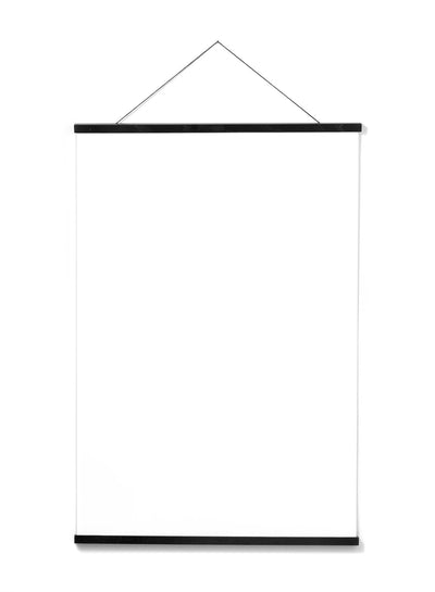 Scandinavian black oak poster wall hanger by Opposite Wall - Front of the poster hanger - Size 24 inches
