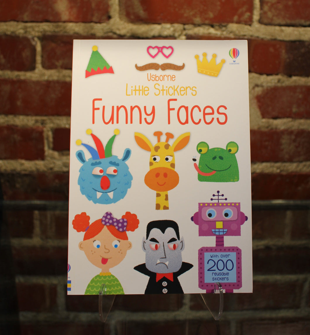 Book, Little Stickers Funny Faces