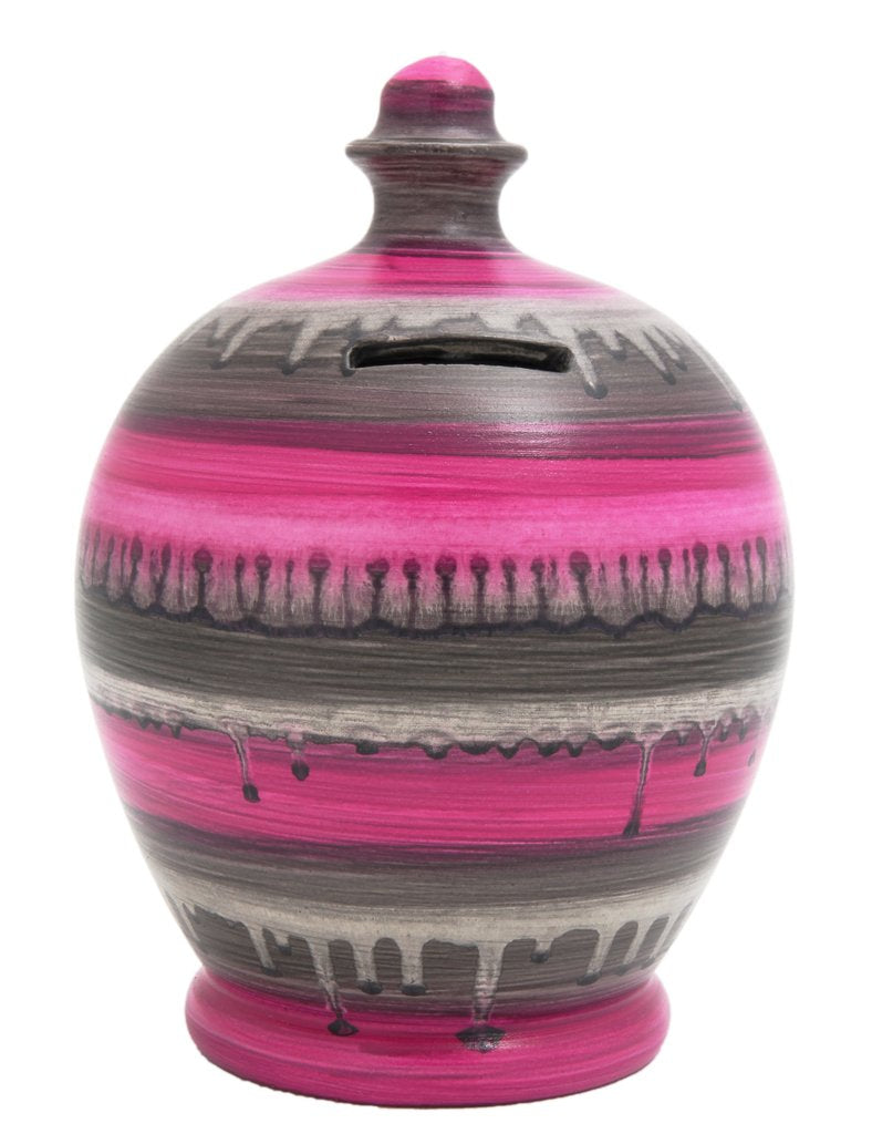 Money Pot (dark pink glaze)