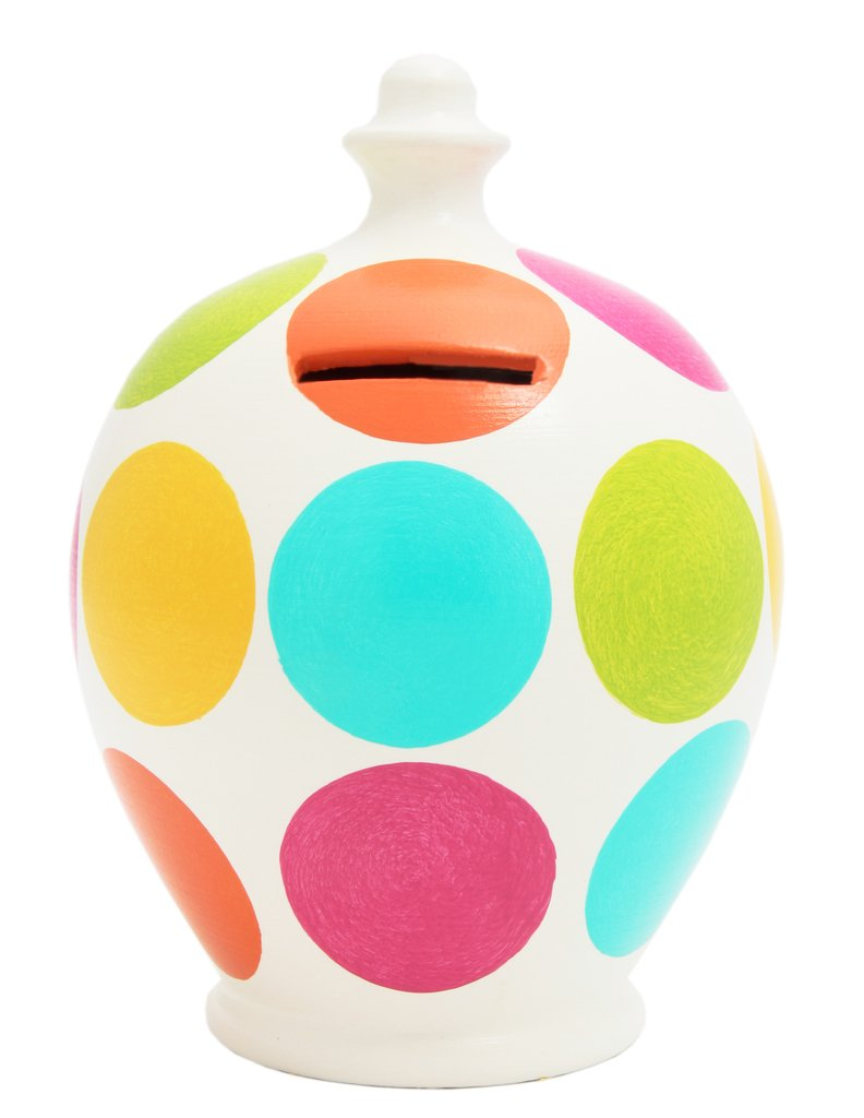 Terramundi Money Pot (Spot - Pink, Aqua, Lime, Orange & Yellow)