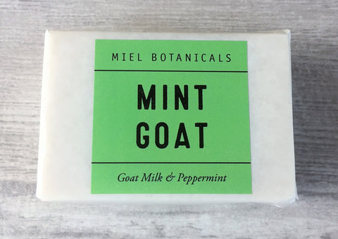 Mint Goat Milk Soap - Miel Botanicals