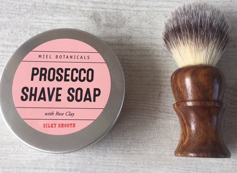 Prosecco & Rose Shave Soap - Miel Botanicals