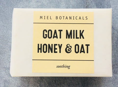 Goat Milk, Honey & Oat Soap - Miel Botanicals