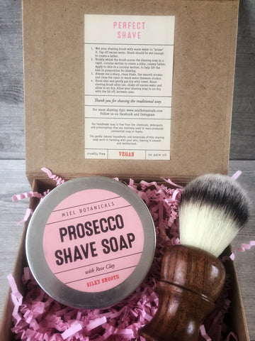 Prosecco & Rose Shaving Set - Miel Botanicals