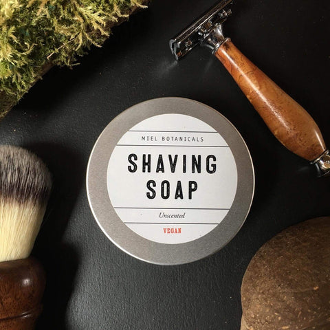 Unscented Shaving Soap - Vegan - Miel Botanicals