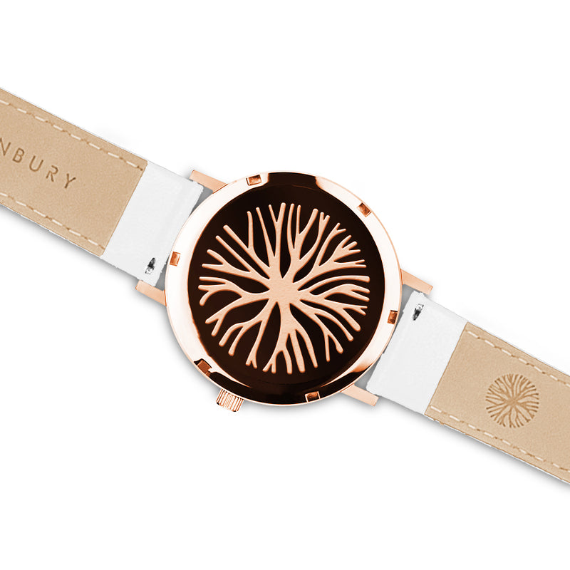 ROSE GOLD LEATHER / WHITE OAK