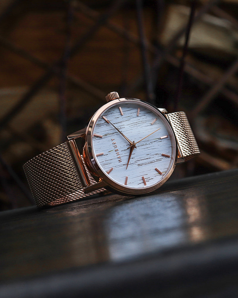 ROSE GOLD MESH / WHITE OAK