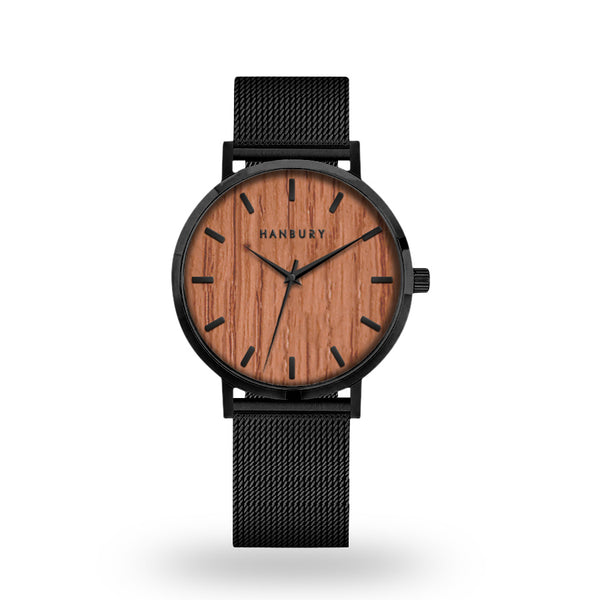 BLACK MESH / NATURAL OAK