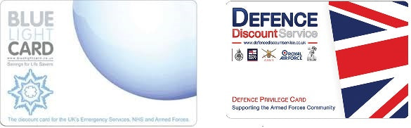 Available Still For Blue Light Card and Defence Discount Card Holders - Discount Available on your sites.