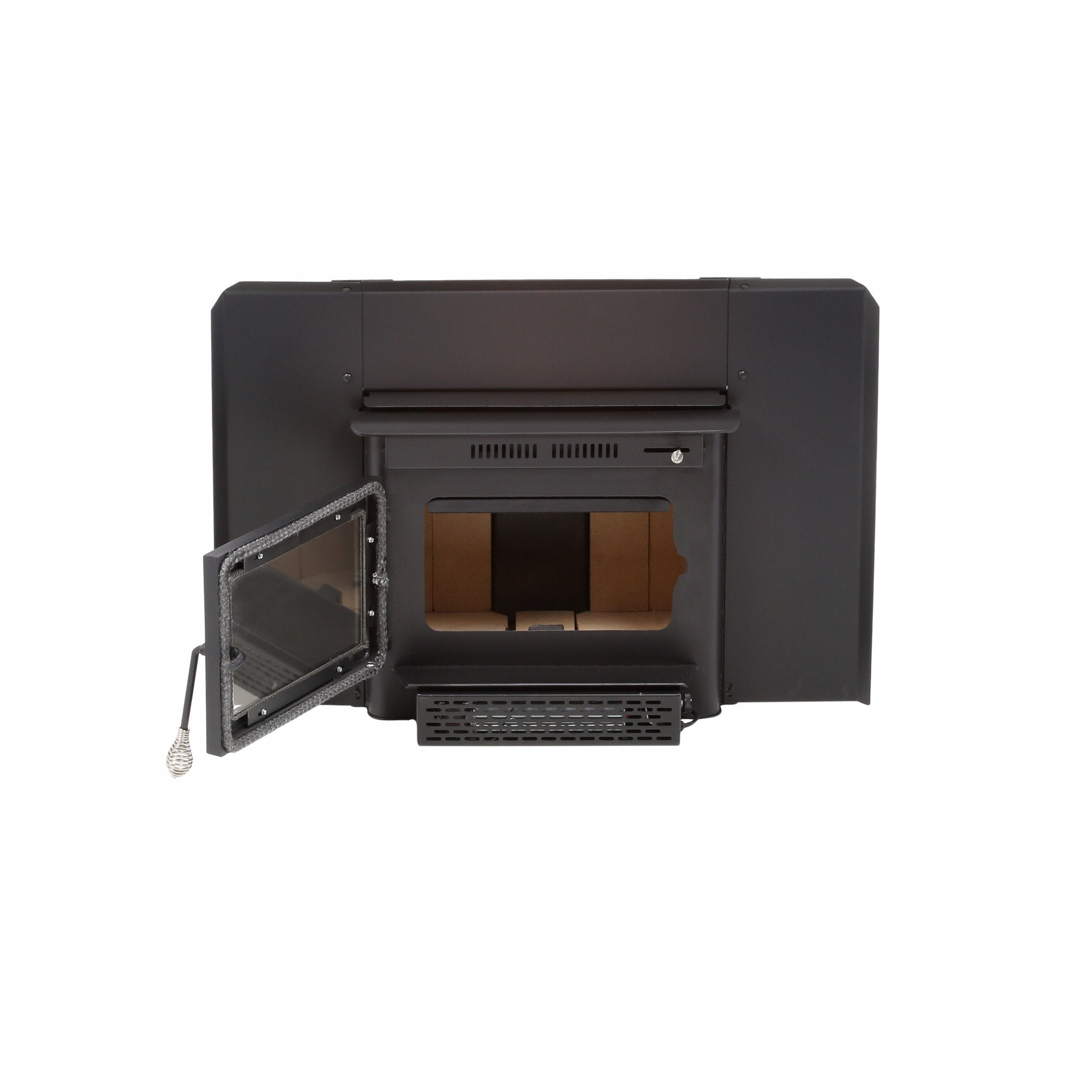 in black for nickle burning wood with fireplace brushed insert osburn epa metallic